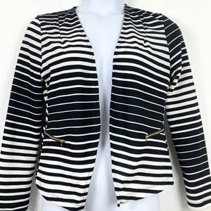 Kaii Large Cardigan Top Striped Lace Back Open